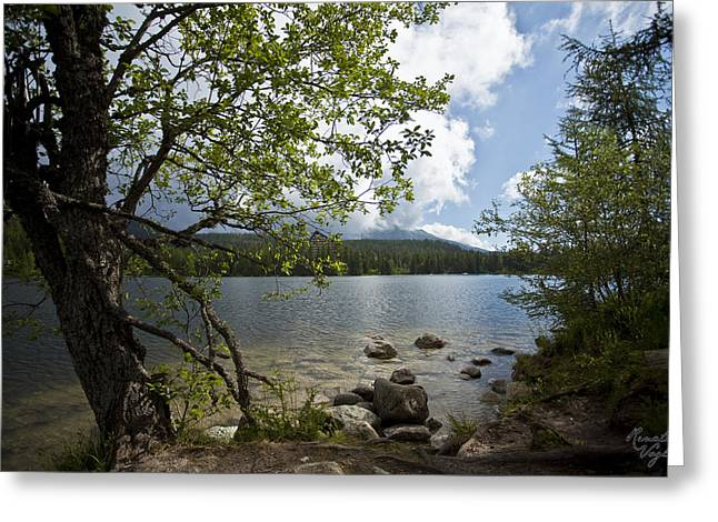 Photografie Greeting Cards - Strbske Pleso  Greeting Card by Renata Vogl