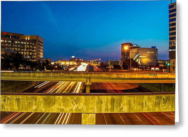 Dallas Photographs Greeting Cards - Streaking by Greeting Card by Dado Molina