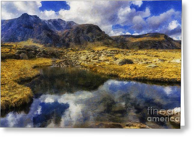 Nature Scene Digital Greeting Cards - Stream Reflections Greeting Card by Ian Mitchell