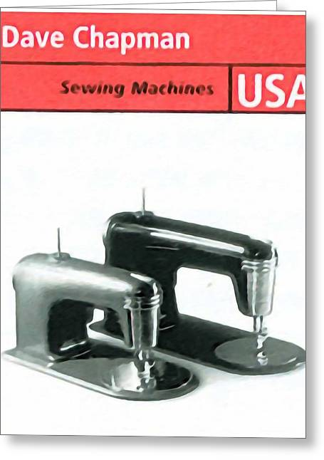 Manufacturing Paintings Greeting Cards - Streamlined sewing machines Greeting Card by Lanjee Chee