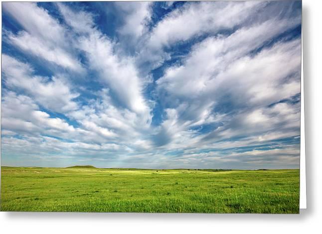 Streams Of Clouds Greeting Card by Todd Klassy