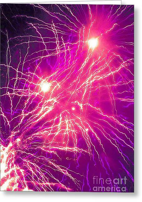 Exposure Greeting Cards - Streams of Light 2 Greeting Card by Tim Richards