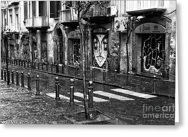 Neapolitan Greeting Cards - Stree Lines in Naples Greeting Card by John Rizzuto