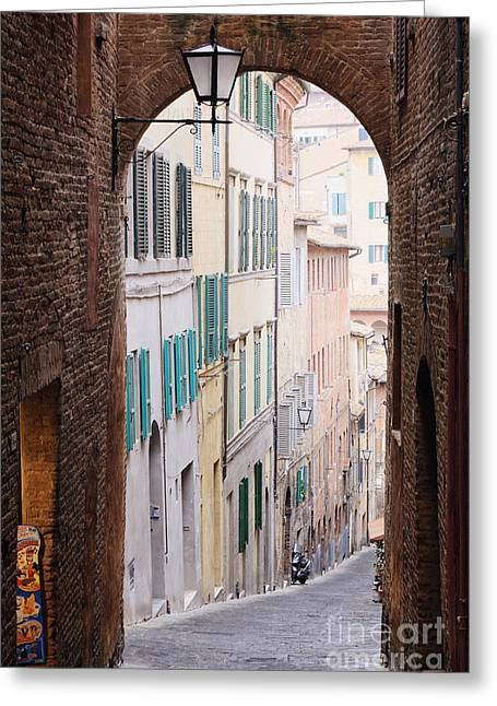 Street Archway Greeting Card by Jeremy Woodhouse