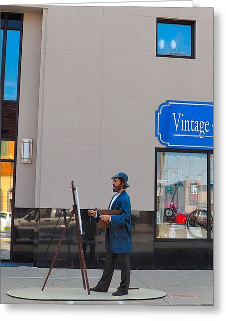 Artist Photographs Greeting Cards - Street Art #4 Greeting Card by Nancy Wagener