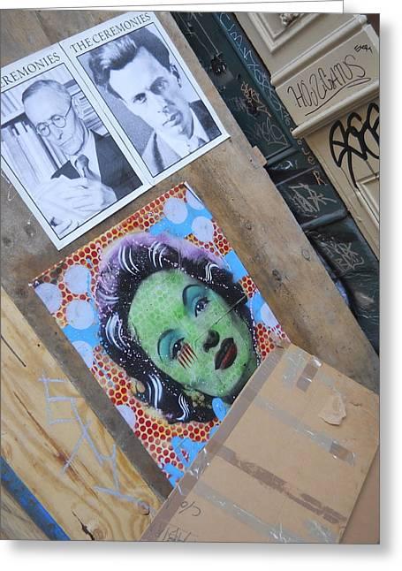 Cardboard Greeting Cards - Street Art Manhattan Greeting Card by Jim Ramirez