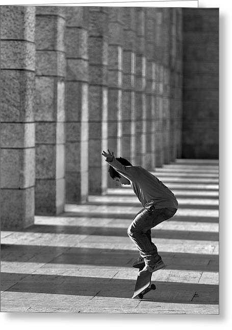 Street Photographs Greeting Cards - Street Dancer Greeting Card by Fulvio Pellegrini