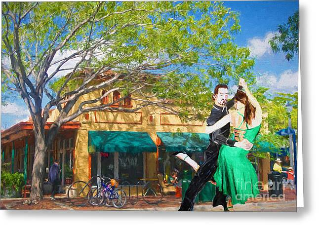 Dance Greeting Cards - Street Entertainers Greeting Card by Judy Kay