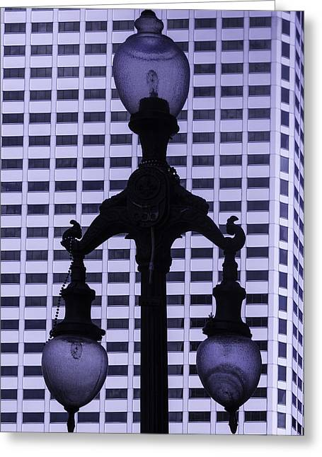 Street Lamp Greeting Cards - Street Lamp New orleans Greeting Card by Garry Gay