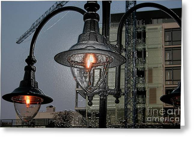 Street Lamp Greeting Card by Yavor Kanchev