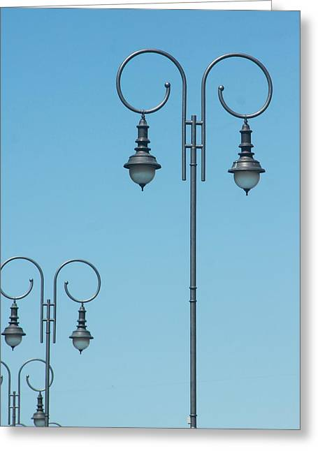 Historic Site Greeting Cards - Street Lamps Greeting Card by Andrew Wijesuriya