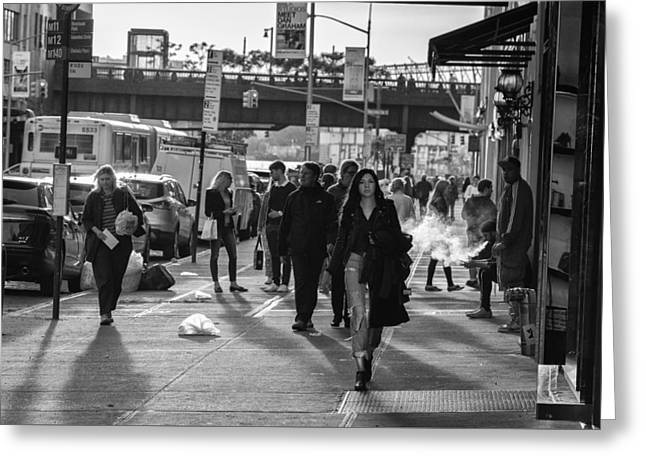Chelsea Greeting Cards - Street Life Greeting Card by Christian Heeb