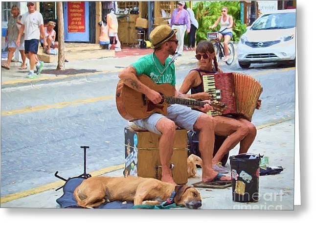 Street Melody Edition 2 Greeting Card by Judy Kay