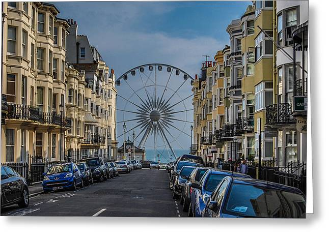 Streetphotography Greeting Cards - Street of Brighton  Greeting Card by Marius  Mangevicius