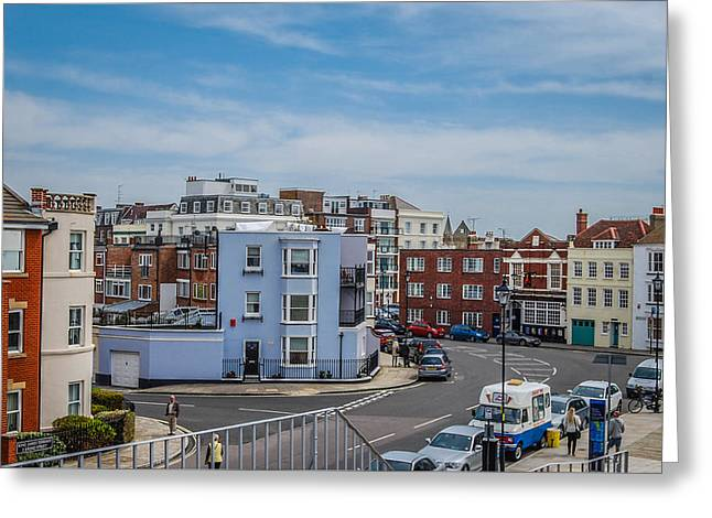 Streetphotography Greeting Cards - Street of old Portsmouth  Greeting Card by Marius  Mangevicius