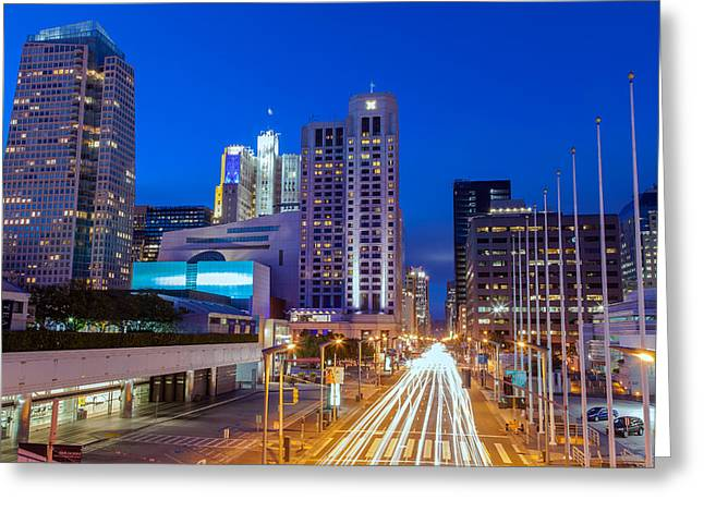 Downtown San Francisco Greeting Cards - Street Of San Francisco Greeting Card by Jonathan Nguyen