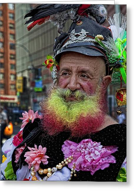 Street Performers Greeting Cards - Street Performer Union Square NYC Greeting Card by Robert Ullmann