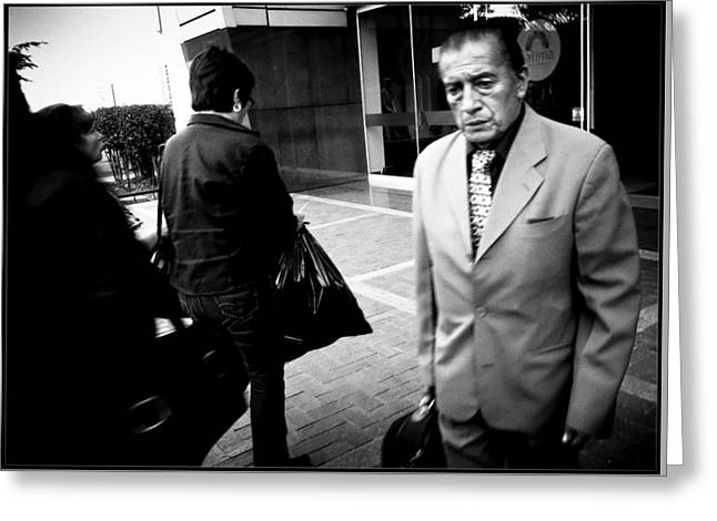 People Greeting Cards - Street Portrait   132  Greeting Card by Daniel Gomez