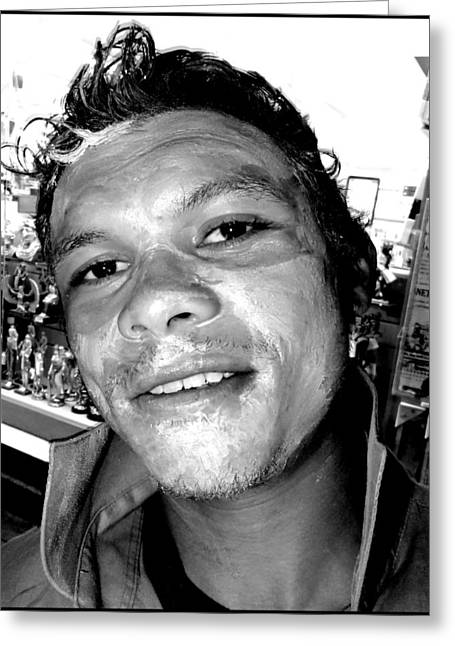 Artistic Photography Greeting Cards - Street Portrait   138 Greeting Card by Daniel Gomez