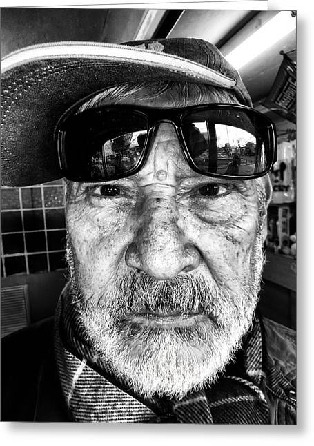 Considerate Greeting Cards - Street Portrait   190 Greeting Card by Daniel Gomez
