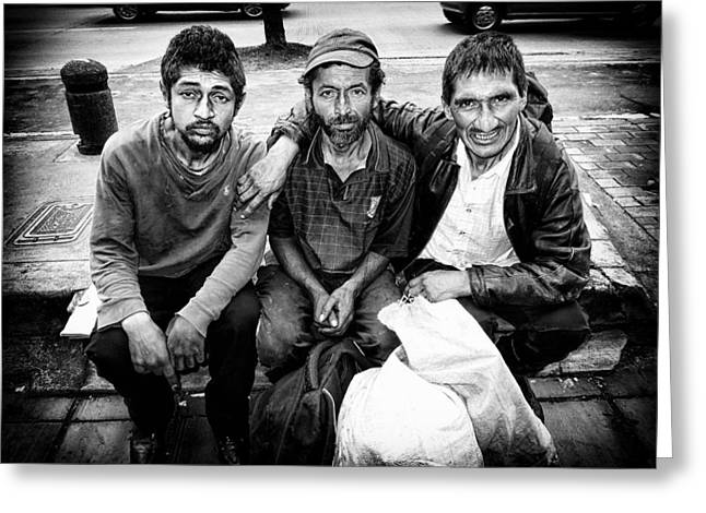 Considerate Greeting Cards - Street Portrait   201 Greeting Card by Daniel Gomez