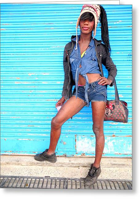 Considerate Greeting Cards - Street Portrait   213 Greeting Card by Daniel Gomez