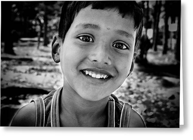 Streetphotography Greeting Cards - Street Portrait Greeting Card by Arjun Ramesh