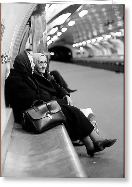 Street Portrait In Paris Greeting Card by Daniel Gomez