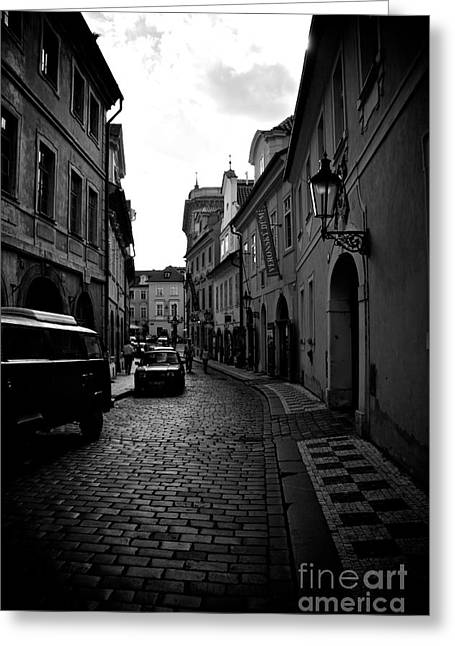 European Restaurant Greeting Cards - Street scenery in the Little Quarter area Greeting Card by Hideaki Sakurai