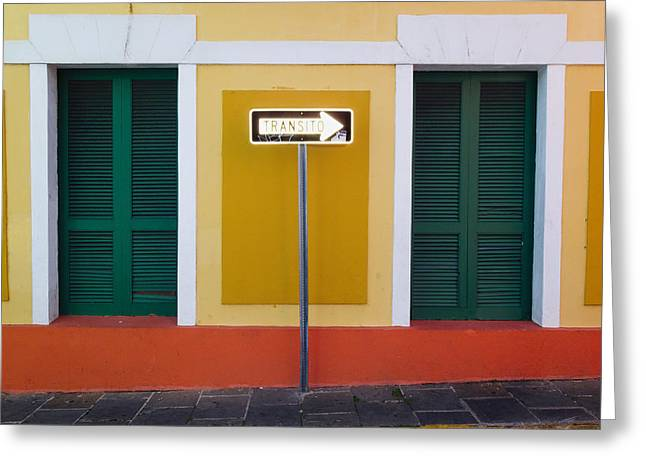 Louver Greeting Cards - Street Sign  Greeting Card by George Oze