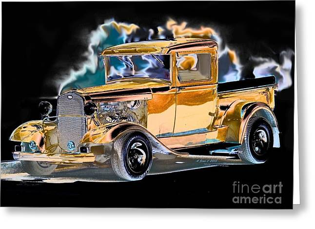 Street Truck Hot Rod Greeting Card by Annie Zeno