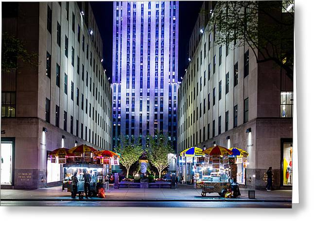 Greeting Card featuring the photograph Rockefeller Center by M G Whittingham