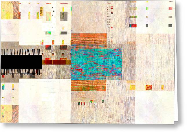 Street View - Abstract Art  Greeting Card by Ann Powell