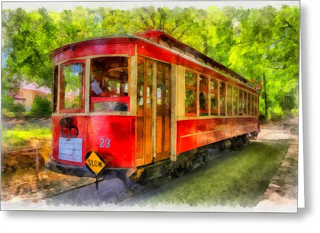 Trolley Greeting Cards - Streetcar 23 Greeting Card by Mark Kiver