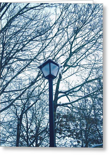 Streetlight Greeting Cards - Streetlamp Greeting Card by Utopia Concepts