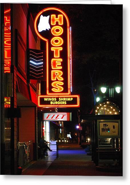 Nightclub Pastels Greeting Cards - Streetlife2 Greeting Card by Steavon Horne
