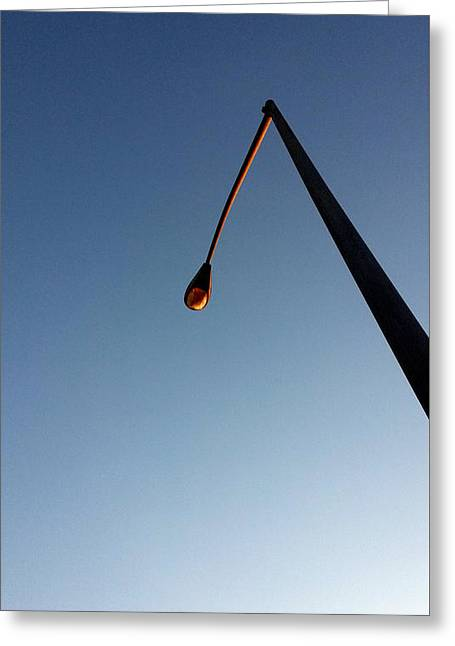 Streetlight Greeting Cards - Streetlight At Dusk Greeting Card by Eric Forster