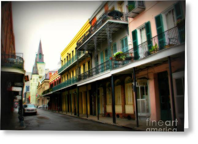 Historical Pictures Greeting Cards - Streets of New Orleans Greeting Card by Perry Webster