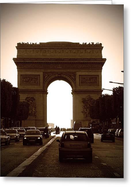 Starving Artist Greeting Cards - Streets of Paris Greeting Card by Kamil Swiatek