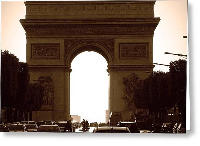 Streets of Paris Greeting Card by Kamil Swiatek