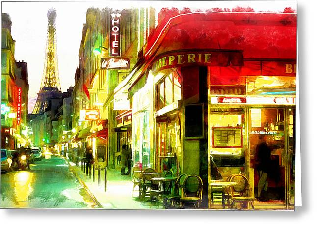 Dore Digital Greeting Cards - Streets of Paris Greeting Card by Riccardo Zullian