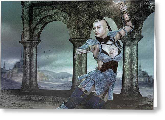 Strength and Honor Greeting Card by Karen K