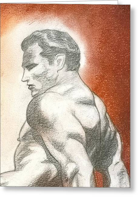 Strength Pastels Greeting Cards - Strength Greeting Card by Maurice Dantes
