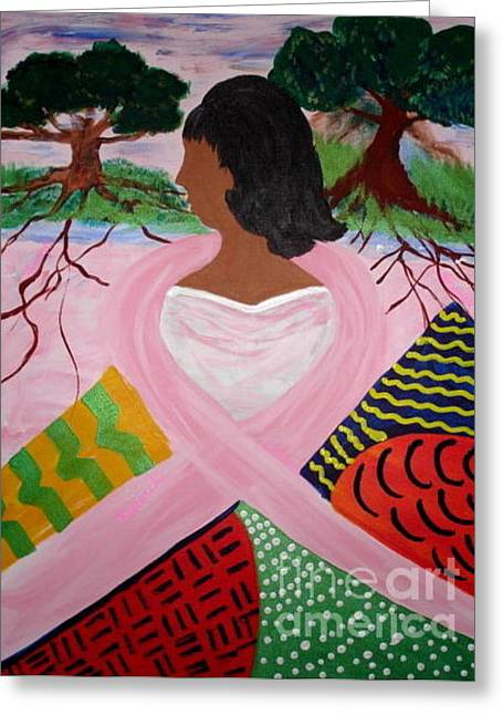 Survivor Art Greeting Cards - Strength of Our Roots Greeting Card by Sheila J Hall