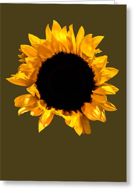 Flower Design Greeting Cards - Stretching  Sunflower Greeting Card by Heather Joyce Morrill