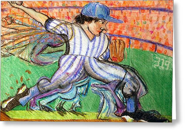 Gloves Drawings Greeting Cards - Stride Greeting Card by Jame Hayes