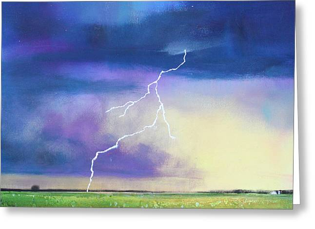 Thunderstorm Greeting Cards - Strike From the Heavens Greeting Card by Toni Grote
