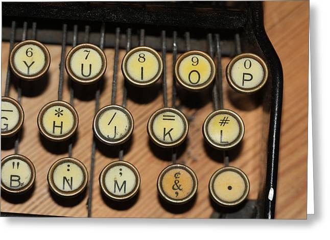 Typewriter Greeting Cards - Striking the Right Key Greeting Card by Carl Purcell