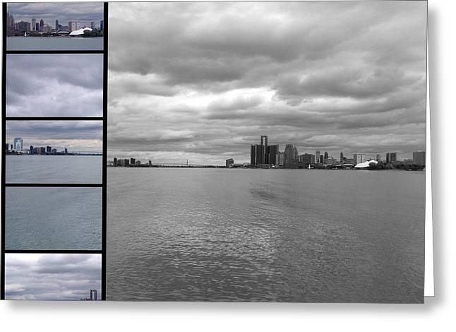 Renaissance Center Greeting Cards - Strip Greeting Card by 2141 Photography