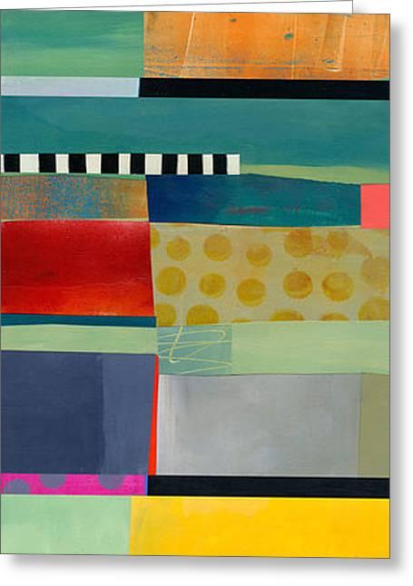 Stripe Assemblage 2 Greeting Card by Jane Davies